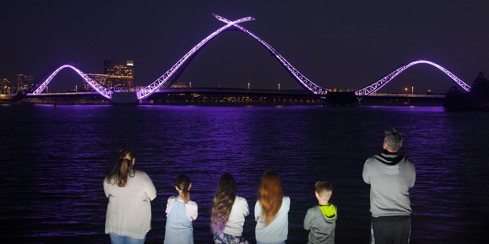 TAMS light up perth 2021